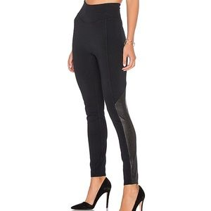 Spanx Perforated Faux Leather Panel Leggings M